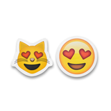 "5"" Emoji Stickers (Heart Eyes)"
