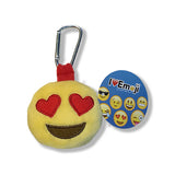 Emoji Heart Eyes Backpack Clip - Plush - Everything Emoji