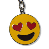 Emoji Heart Eyes Keychain | Smiling Face With Heart-Eyes Emoji | Emoticon Key Ring