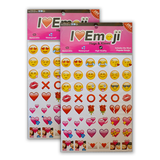 Emoji Hugs & Kisses Sticker Pack - Everything Emoji - 288 Stickers