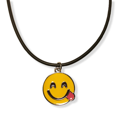 Side Tongue Emoji Rope Necklace