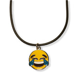 Tear of Joy Emoji Rope Necklace
