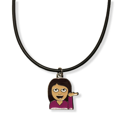 Woman Emoji Rope Necklace