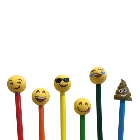 Emoji Pencil Top Erasers: Mr Poo, Emoji Smile, Sunglasses & More