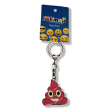 Pink Poo Emoji Silver Keychain : Available At Everything Emoji