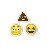 Pile of Poo - Pile of Poop Emoji : Shocked Face - Surprised Face Emoji : Tears of Joy Emoji