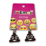 Emoji Women's Chain Necklace & Drop Earrings - Poo