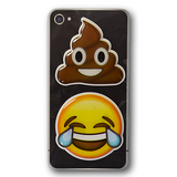 Puffy Emoji Stickers : Poo - Poop Emoji : Tears of Joy Emoji