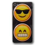 Puffy Emoji Stickers : Sunglasses Emoji : Grinning Emoji