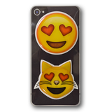Puffy Emoji Stickers : Heart Eyes Emoji : Heart Eyes Cat Emoji