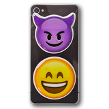 Puffy Emoji Stickers : Devil Horns Emoji : Smiling Face Emoji