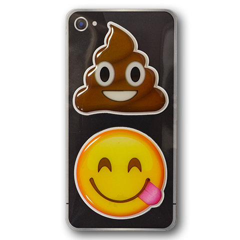 Puffy Sticker - Poo - Tongue Wink - Everything Emoji - Set 6