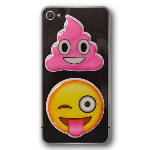 Puffy Sticker - Pink Poo - Tongue Wink - Everything Emoji - Set 7
