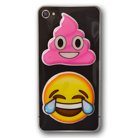 Puffy Sticker Set 8 - Pink Poo - Tears of Joy - Everything Emoji