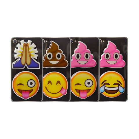 Puffy Emoji Stickers: Folded Hands - Thank You Emoji : Brown Poo - Brown Poop Emoji : Pink Poo - Pink Poop Emoji : Crazy Face - Wink Tongue Out Emoji : Goofy Face - Side Tongue Emoji : Tears Of Joy Emoji