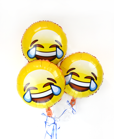 "Emoji 18"" Tears of Joy Helium Balloons 3 Pack"