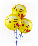 "Emoji 18"" Throwing a Kiss Helium Balloons 3 Pack"