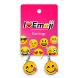 Emoji Side Tongue Silver Drop Earrings
