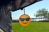 Emoji Sunglasses Air Freshener (6 Pack - Pina Colada Scented)