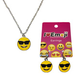 Emoji Women's Chain Necklace & Drop Earrings - Sunglasses