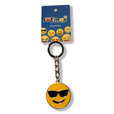 Sunglasses Yellow Emoji Silver Keychain : Everything Emoji