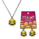 Emoji Women's Chain Necklace & Drop Earrings - Tears of Joy