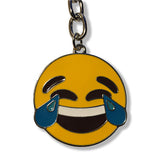 Emoji Tears of Joy Silver Keychain