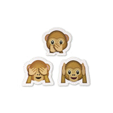 See No Evil Emoji : Say No Evil Emoji : Hear No Evil Emoji : The Three Wise Monkeys