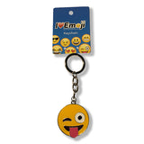 Tongue Wink Yellow Emoji Silver Keychain : Everything Emoji