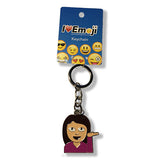 Woman Emoji Silver Keychain : Everything Emoji
