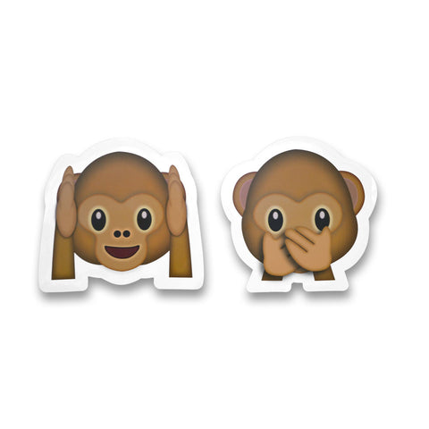 "5"" Emoji Stickers (Monkey Faces)"
