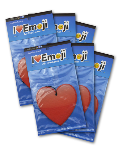 Emoji Red Heart Air Freshener (6 Pack - Jasmine Scented)