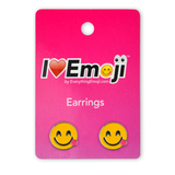 Emoji Side Tongue Silver Stud Earrings