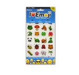 Emoji Clothing Tattoo Variety Pack: 1 Large Face, 1 Regular Face, 1 Nature