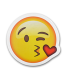 "8"" Emoji Kiss Sticker"