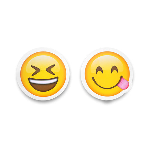 "5"" Emoji Stickers (Squint / Side Tongue)"