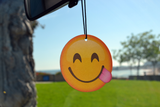 Emoji Side Tongue Air Freshener (6 Pack - Pine Scented)