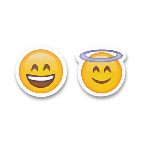 "5"" Emoji Stickers (Halo / Smile)"