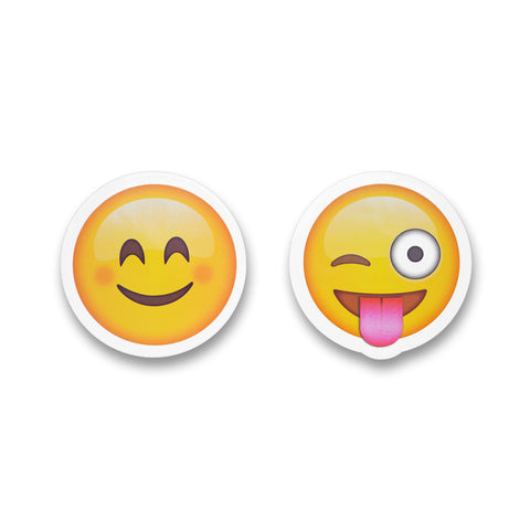"5"" Emoji Stickers (Smile / Tongue Wink)"