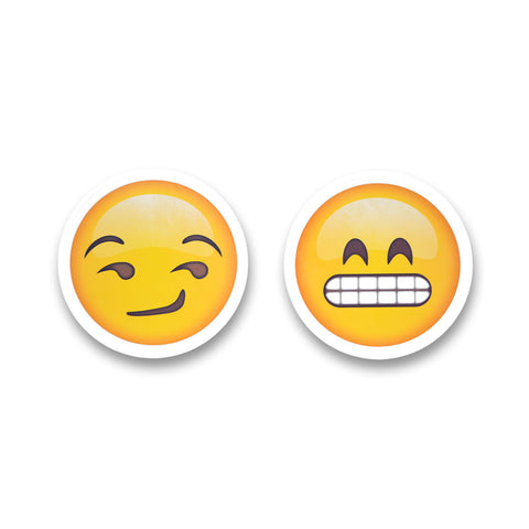 "5"" Emoji Stickers (Grin / Smirk)"