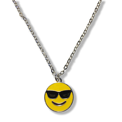 Sunglasses Emoji Silver Chain Necklace