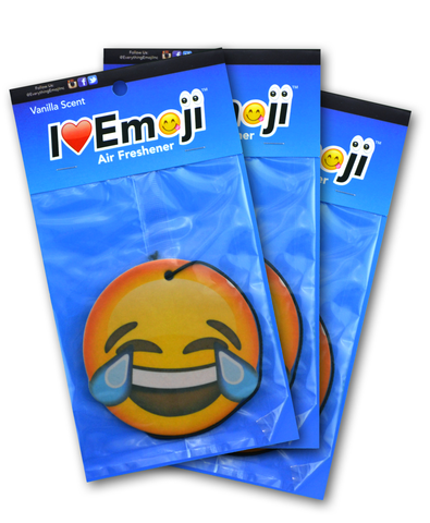 Emoji Tears of Joy Air Freshener (3 Pack - Vanilla Scented)