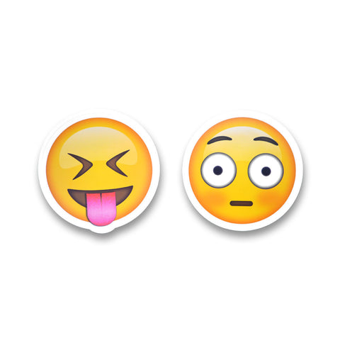 "5"" Emoji Stickers (Shock / Tongue Out)"