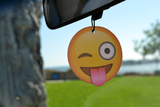 Emoji Tongue Wink Air Freshener (6 Pack - Pina Colada Scented)