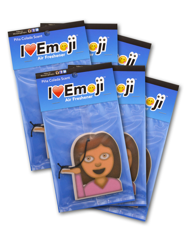 Emoji Woman Air Freshener (6 Pack - Pina Colada Scented)