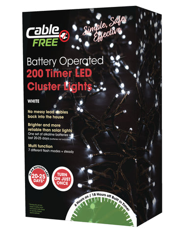 200 Led Battery Operated Cluster Lights