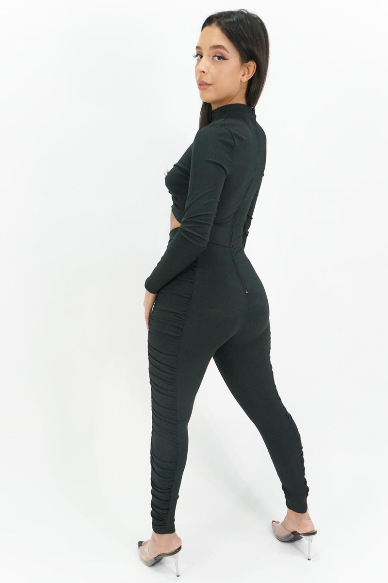 Keeping it Together Cutout Skinny Jumpsuit