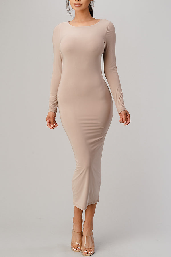 Around the Back Bodycon Maxi Dress