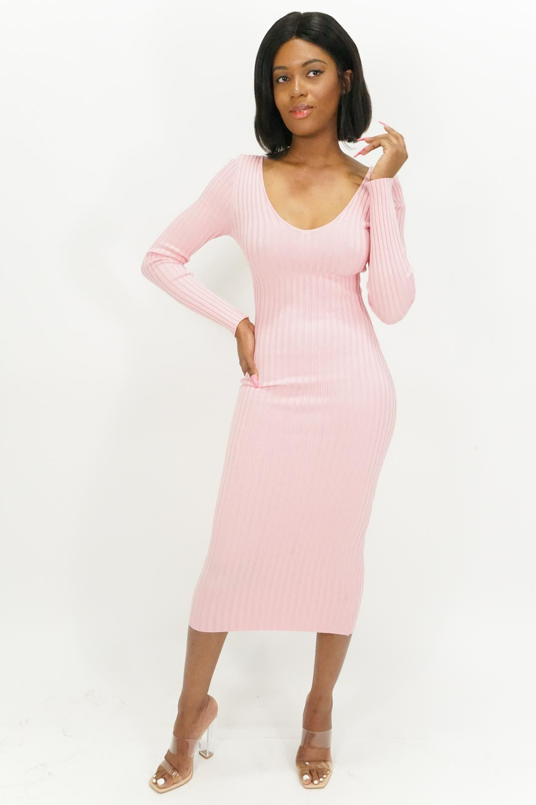 Sugar Babe Ribbed Maxi Dress