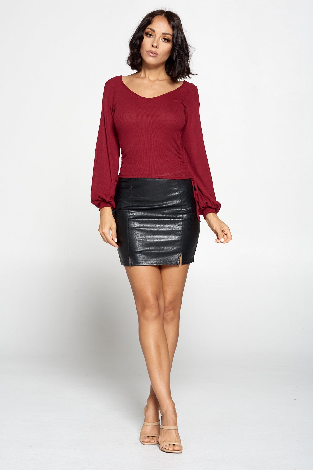 A Cut Above Pleather Mini Skirt